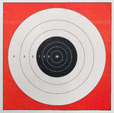 Shooting Practice Target. A Closeup of a practice target used for shooting Royalty Free Stock Photos