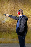 Shooting Range. Photograph of a single competitor at the shooting range Stock Photography