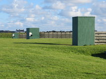 Shooting range in Guernsey. The shooting range is on a beautiful headland in Guernsey Stock Photos