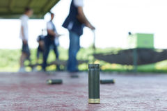 Shooting range outdoor. Bullets on ground at shooting range outdoor Stock Photography