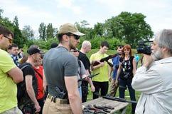 Shooting range outdoors Royalty Free Stock Image