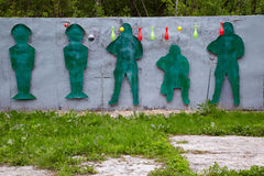 Shooting range for paintball players Royalty Free Stock Images