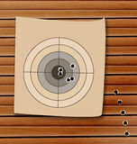 Shooting range target with bullet holes Royalty Free Stock Image