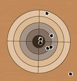 Shooting range target with bullet holes Stock Image