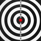 Shooting range target Royalty Free Stock Photography