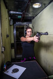 Shooting on the range Royalty Free Stock Image