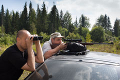 Shooting from a rifle Stock Photography