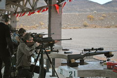 Shooting At SHOT Show Las Vegas Stock Image