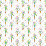 Shooting slapstick seamless pattern. Vector illustration Stock Photos