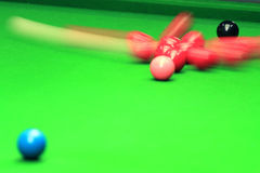 Shooting Snooker distribution Royalty Free Stock Photos