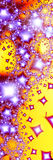 Shooting star 2. Freaky colorful pattern. Fractal generation vector illustration
