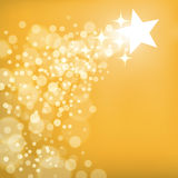 Shooting Star Background. An illustration of a shooting star gold background Stock Photography