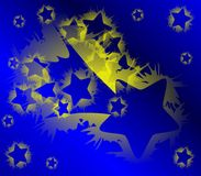Illustration with artistic Shooting Star and stars Stock Photo