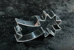 Shooting star cookie cutter Royalty Free Stock Image