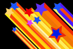 Shooting star illustration. An illustration of colorful shooting stars Royalty Free Stock Photography