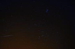 Shooting star the night sky Stock Image