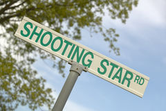 Shooting Star road sign Stock Images