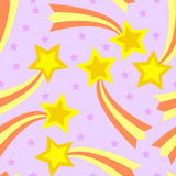 Shooting Star Seamless Tile. Seamless, tileable and fully repeatable illustration of colorful shooting stars Royalty Free Stock Photography