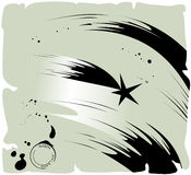 Shooting star, vector. Grunge shooting star, ink on old paper Stock Photography