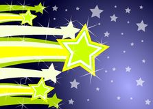 Shooting stars. This illustration represents some shooting star. this can be used as christmas greeting card Royalty Free Stock Photo