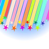 Shooting stars. Show with colorful shooting stars Royalty Free Stock Images
