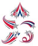 Shooting Stars. Various streaking patriotic Shooting Stars Royalty Free Stock Photography