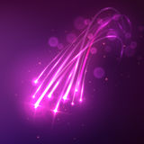 Shooting stars background with twinkling trails Stock Image