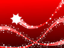 Shooting Stars Christmas Background Royalty Free Stock Images