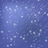 Shooting Stars en el cielo de Nignt Lluvia de meteoritos Fotos de archivo libres de regalías