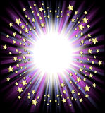 Shooting stars frame. A round border of shooting stars radiating from the center royalty free stock images