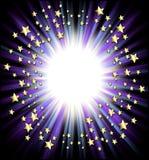 Shooting stars frame Stock Image