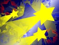 Shooting Stars-Hintergrund Lizenzfreies Stockbild