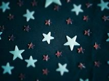 Shooting for the stars. Small & average sized stars stock photography
