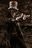 Shooting steampunk Royalty Free Stock Photos