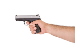 Shooting Style with Gun from Inside of an Arm Stock Photos