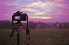 Shooting sunrise timelapse Stock Image