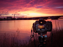 Shooting The Sunrise In Washington DC Stock Image