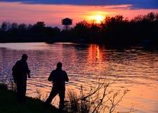 Shooting at sunset Stock Photo
