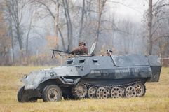 Shooting from tank Stock Photography