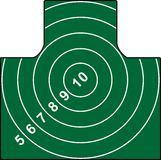 Shooting Target. The form of paper shooting target - the vector illustration ready for printing and application in shooting preparation or competitions Royalty Free Stock Photo