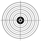 Shooting target. Black and white shooting target Royalty Free Stock Photo