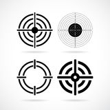 Shooting target aim vector icon. S set Stock Photography