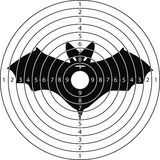 Shooting target bat Royalty Free Stock Image