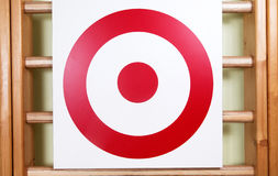 Shooting target board in gym. Photo of shooting target board in gym Royalty Free Stock Photography
