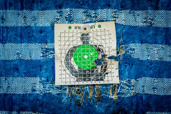 Shooting target and bullseye with bullet holes Stock Image