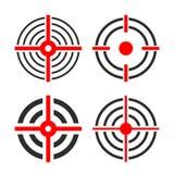Shooting target circles vector icon. S set Royalty Free Stock Image