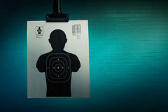 Shooting target on a dark background Stock Photo