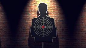 Shooting target stock footage
