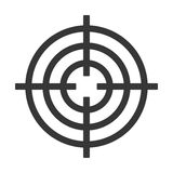 Shooting Target Icon Isolated on White Background. Vector Stock Images