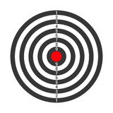 Shooting Target Icon Isolated on White Background. Vector Stock Photos